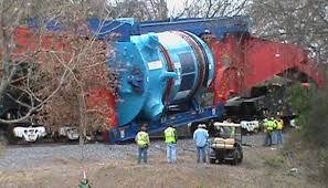 Among the problems plaguing construction of the Vogtle reactors: this mammoth reactor pressure vessel overturned on the way to the construction site.