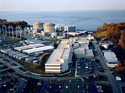 The Calvert Cliffs MD nuclear reactors. Photo, NRC.