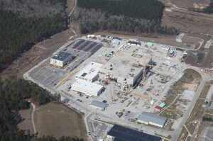 The MOX plutonium fuel factory under construction at the Savannah River Site in South Carolina, 2013.  Photo from Friends of the Earth.