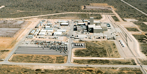 Aerial of the WIPP site in New Mexico. Photo from Nukewatch.