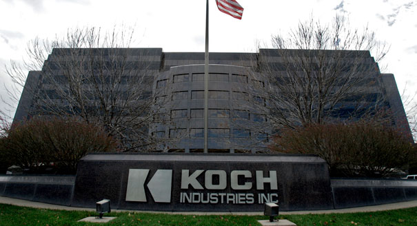Koch Industries headquarters. Their anti-renewables, pro-coal campaign could leave the sky as black as their building...