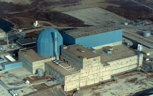 The Clinton nuclear reactor nearly bankrupted the small utility and rural co-ops that originally built it. Despite being bought for a few cents on the dollar by Exelon, it still isn't economic and may face shutdown. Photo by cryptome.org.