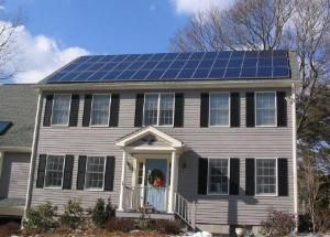 The Koch Brothers and nuclear industry's worst nightmare: a solar-powered house in Massachusetts.