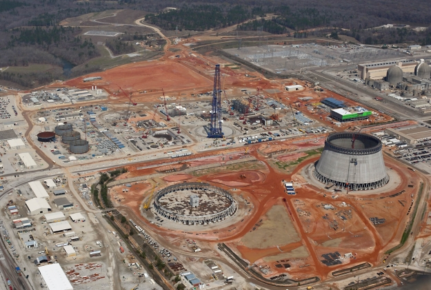 It's a race to the bottom: which reactor will come online first? Vogtle (pictured here in March 2014) or Flamanville (pictured below). Or, alternatively, which project will be abandoned first?