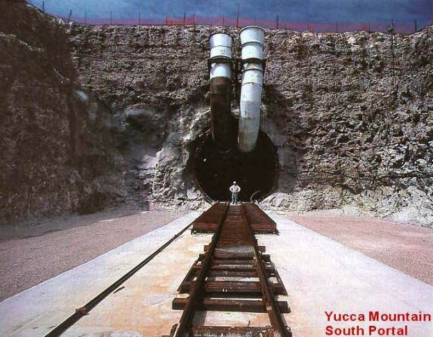 These doors are now closed. This entrance to Yucca Mountain won't be used for radioactive waste.