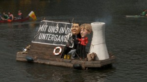 a float at the renewable energy rally in Berlin last weekend