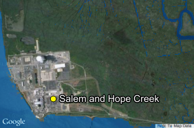 The Salem and Hope Creek nuclear site today.