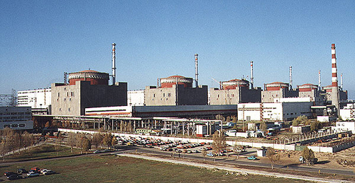 Ukraine's six-unit Zaporizhia nuclear site, the largest in Europe and fifth largest in the world.