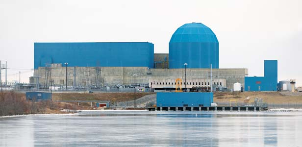 Exelon's Clinton reactor in Illinois. Decidedly not a solar plant.
