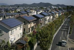 A solar city in Japan.