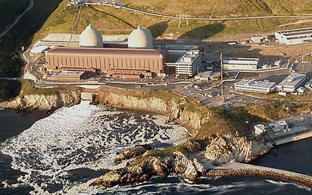 The Diablo Canyon reactors near San Luis Obispo, California