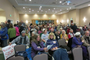 "A packed meeting on the ""waste confidence"" rule in San Luis Obispo, CA, November 2013."
