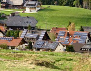 A solar-powered farming village in Germany.