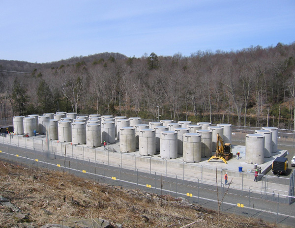 There are 43 dry casks--neither hardened nor secure--sitting outside at the shuttered Connecticut Yankee reactor.