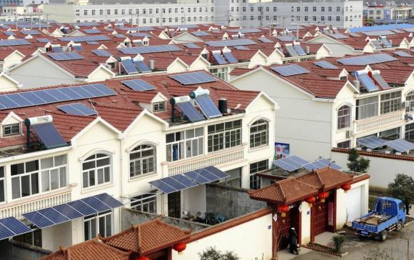 Rooftop solar in Qingnan village of Lianyungang, China.