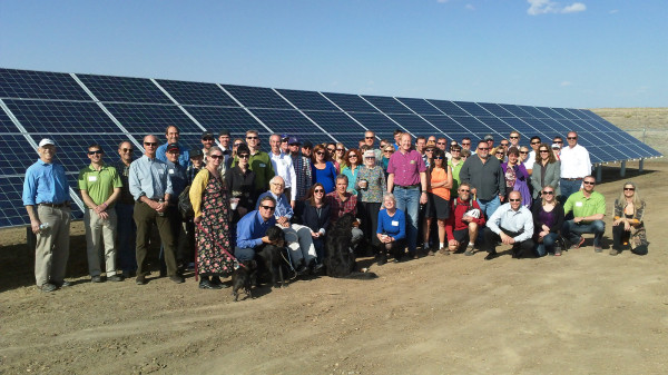 A Clean Energy Collective community solar installation in Boulder, CO.