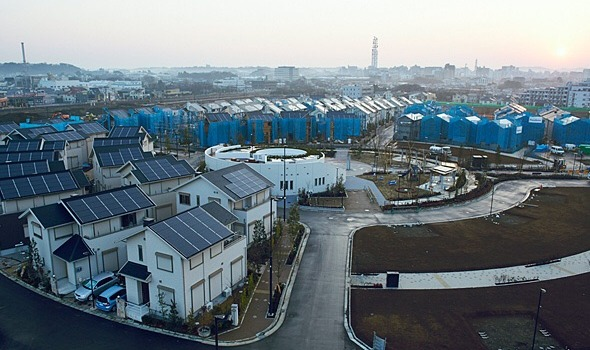"Part of the ""smart town"" Panasonic is building in Japan."