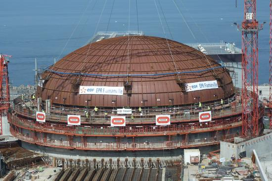 The containment dome at Flamanville-3 has been installed. It would be exceedingly difficult and costly to replace the bottom head of the reactor pressure vessel installed here.