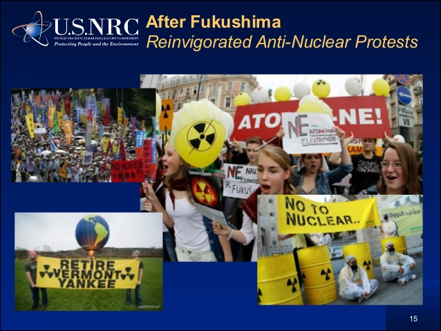 The onset of the Fukushima nuclear disaster on March 11, 2011 set off a new round of anti-nuclear protest across the world so large even the U.S. NRC was forced to take notice.
