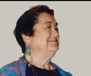 The late Grace Thorpe, Sac and Fox Tribe, daughter of Olympian Jim Thorpe; former NIRS Board Member and founder of the National Environmental Coalition of Native Americans.
